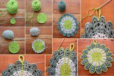 Agarradera tejida Crochet Potholders, Crochet Stitches, Knitting Patterns, Crochet Patterns, Ideas Prácticas, Beautiful Crochet, Crochet Designs, Handicraft, Diy Design