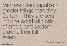 Horace Walpole, English writer