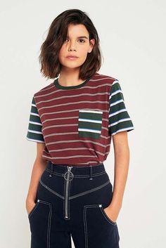 Slide View: 1: BDG Benny Contrast Striped T-Shirt