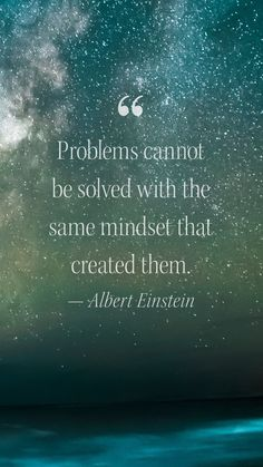 """""""Problems cannot be solved with the same mindset that created them."""" --Albert Einstein #MotivationalMonday What Does Serenity Mean, Finding Inner Peace, Catalog Cover, Self Acceptance, Albert Einstein, Monday Motivation, Garnet, Mindset, Verses"""