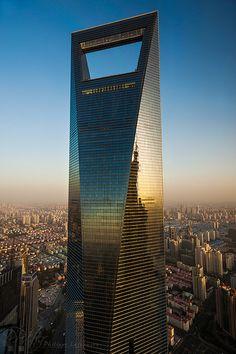 World Financial Center - Shanghai (um... does it inspired by bottle opener?)