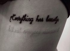 Beautiful Quotes Tattoos - Tattooable Quotes