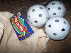 Great idea for making all those fabric balls that are popular right now. These are much cheaper then the Styrofoam balls that are at the craft stores.