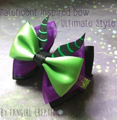 The Maleficent Inspired Bow by FangirlCreation on Etsy