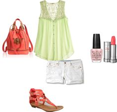 """""""Cute in Coral"""" by tedelof on Polyvore"""