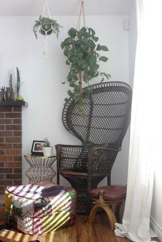 just dawnelle: wicker peacock chair