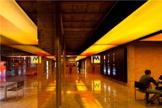 Fabrica Moritz in Barcelona, designed by Jean Nouvel. An ancient brewery, now a a temple of design.
