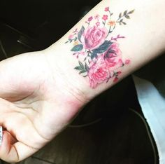 Floral Wristband by Mojo Tattoo