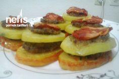 Fırında Köfteli Patates Dizmesi