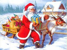 Merry Christmas Santa Claus Images 2019 : The festival of Merry Christmas 2019 is coming when peoples exchange Christmas Messages, Xmas Message Merry Christmas Santa, Father Christmas, Christmas Pictures, Christmas Art, Beautiful Christmas, Vintage Christmas, Christmas Paintings, Christmas Quotes, Vintage Santas