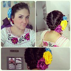 Peinados , Trenzas Mexicanas para el Dia de los Muertos