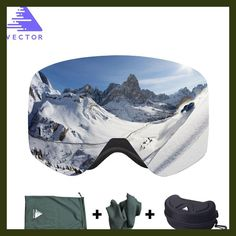 Click image to buy! VECTOR Brand Ski Goggles With Case Double Lens Anti-fog Ski Snow Glasses Skiing Men Women Winter Snowboard Eyewear *** Click the image to view the details on AliExpress website Snowboard Goggles, Ski Goggles, Ski Glasses, Glasses Case, Ski Gear, Snowboarding Gear, Plein Air, Winter Sports, Sport Outfits