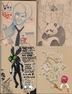 This is a collection of scanned pages from PacMan23s' sketchbooks over the past 7 years 2003 - 2009.