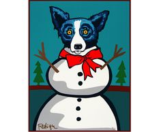 Holiday Prints - Frosty ~ 2000 ~ Original Silkscreen by George Rodrigue