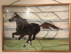 Running Horse Stained Glass #StainedGlassHorse