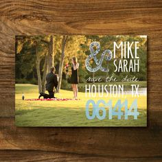 Custom Save The Date by BrittniAustinDesigns on Etsy, $25.00