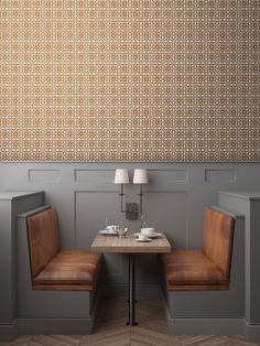 Date night. Restaurant decor with a little Boom Boom Pow. http://tyles.co/collections/modern/products/tyles-boom-boom-pow-in-metallic-copper