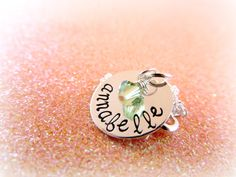 Sterling Silver Name and Birthstone by EverythingPrettyShop