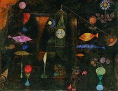Paul Klee - Fischzauber/Magie des poissons, 1925 - Philadelphia Museum of Art - Au Musée Pompidou, Paris jusqu'au 01/08/16