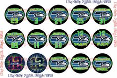 INSTANT DOWNLOAD Seattle Seahawks Players by DigitalImageMania