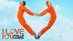 We're not sure what's going on in this 'I Love You Phillip Morris' photo, either.
