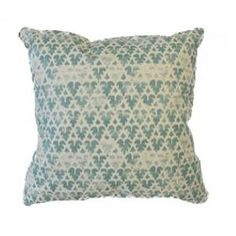 Quadrille Volpi Turquoise Decorative Pillow $385.00 (USD).  Product in photo is from www.wellappointedhouse.com