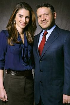 Queen Rania & King Abdullah ll of Jordan
