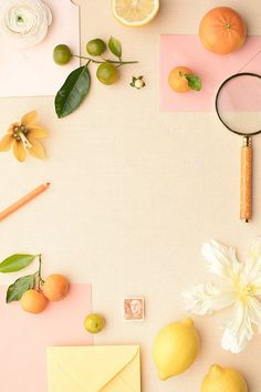 Getting allll the spring and summer vibes from this citrus styled photo from SC Stockshop! Flower Background Wallpaper, Flower Backgrounds, Peach Background, Peach Orange, Paper Goods, Color Inspiration, Iphone Wallpaper, Print Design, Stationery