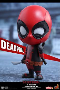 Hot Toys Deadpool Cosbaby from Marvel's . Marvel Wolverine, Marvel Deadpool Movie, Chibi Marvel, Marvel Art, Marvel Avengers, Marvel Comics, Deadpool Wallpaper, Marvel Wallpaper, Cartoon Wallpaper