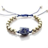 Wondered a novel way of making bracelets with string and beads? Here, you'll be taught to make a bracelet with 2 strings, 32pcs 4mm seed beads and 30pcs jumprings! Fun and easy!
