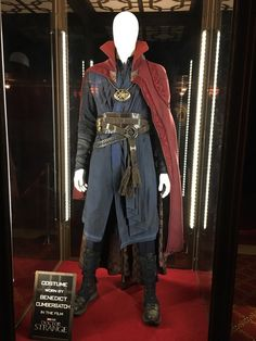 Benedict Cumberbatch's costume from Doctor Strange is on display at the Sunset Showcase Theater!