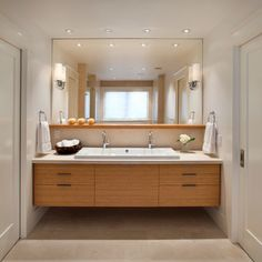 full mirror with shelf in front Modern classic - contemporary - Bathroom - San Francisco - Sullivan Design Studio