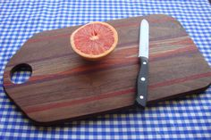16 inch Black Walnut cutting board or serving by SelectWoodcraft. More info here: https://www.etsy.com/listing/130625262/16-inch-black-walnut-cutting-board-or