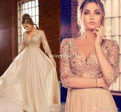 Imagini pentru sexy half sleaved prom dresses 2015