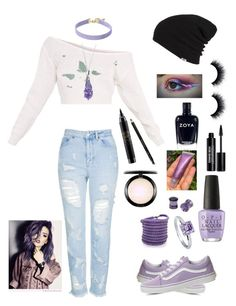 """""""All Day, staring at the ceiling making friends with shadows on my wall"""" by gothgirl87454 ❤ liked on Polyvore featuring Topshop, Vans, OPI, BERRICLE, Vanessa Mooney, Sif Jakobs Jewellery, NOVICA, MAC Cosmetics, Edward Bess and Gucci"""