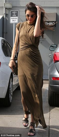 Ready for her close up: Kendall Jenner looked impeccably styled as she stepped out in Los Angeles, California