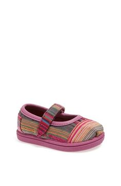TOMS 'Tiny - Pink Serape' Mary Jane Flat (Baby, Walker & Toddler) available at #Nordstrom