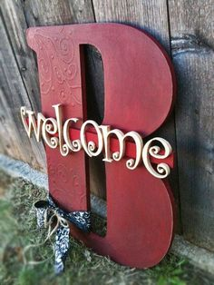 Custom Handmade Large wooden letters,personalized,hand painted,unique wall decor. $50.00, via Etsy.