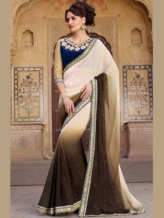 A sweet design to redefine contours of your style and elegance. Item Code: SHE19178 http://www.bharatplaza.com/new-arrivals/sarees.html.