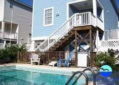 Actually Ours is a four-bedroom, four-bath beach house located 0.4 miles south of Surfside Beach Pier.