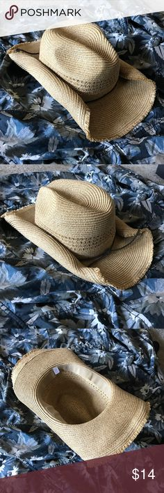 Cowboy / Sun hat - straw, woven Used twice. One size. No signs of wear! Merona Accessories Hats