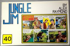 JUNGLE JIM 40 3rd Series Sunday Pages Jan 20/ Apr 6, 1952 Alex Raymond Paul Norris Don Moore LARGE Action Hero Newspaper Comic Strip Reprint