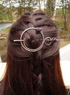 3a4cb4d3f22 Hair Barrette Stick Copper Shawl Pin Scarf Pin Hair Slide Barrettes Celtic  Copper Brooch Hair Jewelry