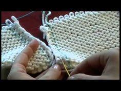 4. Трикотажные швы. Вертикальный трикотажный шов по изнаночной глади. Knitting seams #knitting - YouTube