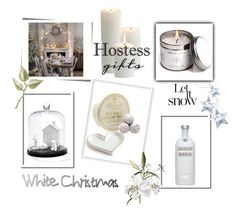 White Christmas...hostess gifts by theworldisatourfeet on Polyvore featuring interior, interiors, interior design, home, home decor, interior decorating, Charlene Mullen, Stoneglow, Hostess and holidays