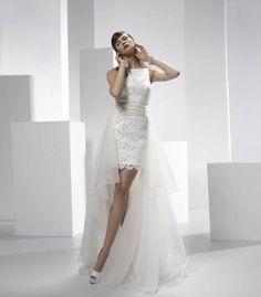 85 vestidos de noiva curtos lindos e modernos que vão te impressionar! Image: 40