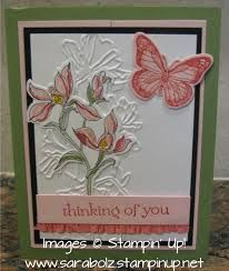 Absolutely gorgeous! I finally have a use for that embossing folder. stampin up backyard basics - Recherche Google