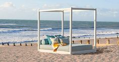 Our Bali Four Poster Canopy Bed is the perfect way to relax in style whether you're on the beach, in your garden or by the comfort of the pool. The grand appearance is visually stunning and promises to deliver a quality touch to any garden. Durable and weather resistant materials are used to ensure a long lasting bed frame that will hold up to the elements it may experience with a life outdoors. The Outdoor Four Poster Canopy Bed will arrive flat packed, meaning it can be quickly moved and…