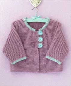 This Pin was discovered by Uğu Knitting For Kids, Baby Knitting Patterns, Lace Knitting, Crochet For Kids, Baby Patterns, Crochet Quilt, Knit Crochet, Brei Baby, Knitted Baby Cardigan