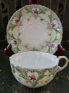 Hand Painted Fine Bone China Very Delicate Cup and Saucer Set